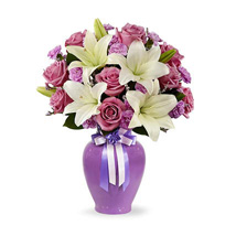 Lavender Mixed Flower Bouquet: Carnations to UAE