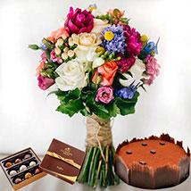 Lavish Combo: Birthday Flowers and Cakes to UAE