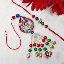 Peacock Lumba Rakhi: Rakhi to Sharjah