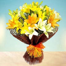 Sunny Asiatic Lilies: Send Miss You Flowers to UAE