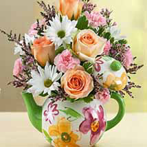 Teapot Full of Blooms: Rose Day Gifts
