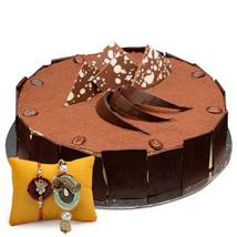 Tiramisu Cake with Rakhi: Rakhi for Bhaiya Bhabhi UAE