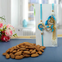 Almond nuts Rakhi Hamper: Rakhi to Newcastle
