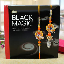 Assorted dark chocolates bhaiya bhabhi Rakhi Set: Send Rakhi to Newcastle