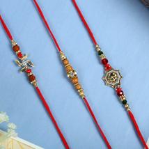 Aum Swastik Traditiona Rakhi Set: Send Rakhi for Brother in Uk