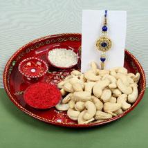 Celebration Cashew Nuts with Rakhi: Rakhi to Leeds
