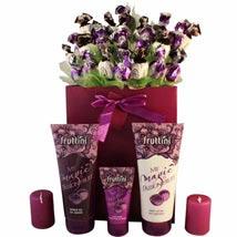 Deep purple with spa: Gifts to Leeds