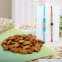 Diamond Rudraksh with Almond Nuts: Send Rakhi to Leeds