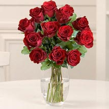 Dozen Red Fairtrade Roses: Anniversary Flowers to UK