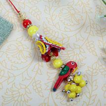 fancy parrot Designer Lumba: Send Rakhi to Leeds