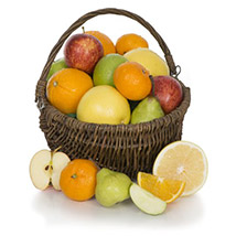 Fruit Basket With Chocolates: Gift Hampers