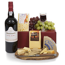 Port and Cheese Selection: Send Mothers Day Gifts to UK