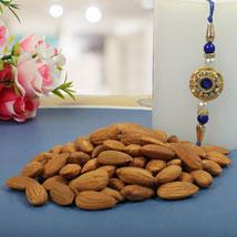 Royal Rajwadi Blue diamond with almond: Send Rakhi to Leeds