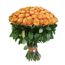 100 Long Stem Orange Roses: Same Day Flower Delivery in Cary