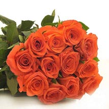 12 Orange Roses: Send Flowers to Chicago