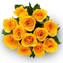 12 Yellow Roses: Send Flowers to San Diego