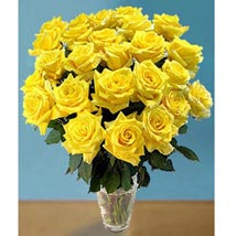25 Long Stem Yellow Roses: Send Flowers to San Diego