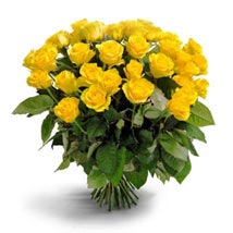 50 Long Stem Yellow Roses: Send Flowers to San Diego