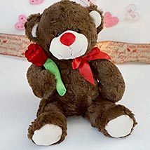 Accept my Rose Teddy Bear: Valentine Day Gifts Boston