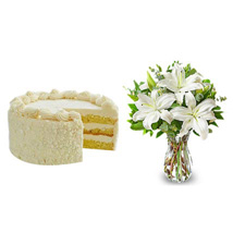 All White: Send Flowers & Cakes to Dallas