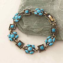 Blue Beads Antique Bracelet: Send Gifts to Philadelphia