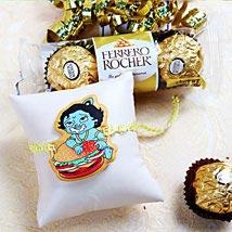 Cartoon Rakhi With Rocher: Rakhi & Chocolates USA