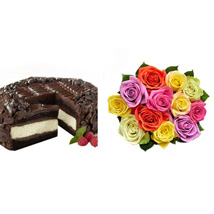 Chocolate Cheesecake and Colorful Roses: Send Cakes to San Jose