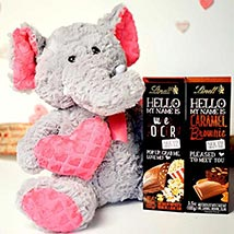 Chocolates With Soft Toy: Valentine Day Gifts Boston