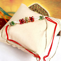 Colorful Beaded Rakhi: Send Rakhi to Omaha
