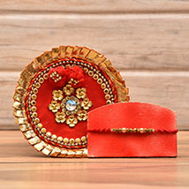 Decorative Rakhi With Puja Thali: Send Rakhi to Charlotte