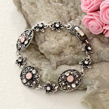Floral Antique Bracelet: Send Gifts to Philadelphia