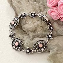 Floral Antique Bracelet: Send Gifts to Baltimore