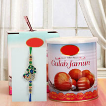 Gulab Jamun N Rakhi: Send Rakhi to Kansas City