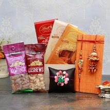 Healthy n Yummy Rakhi Pack: Send Rakhi & Chocolates to USA