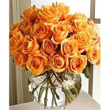 Long Stem Orange Roses: Send Gifts for Father to USA