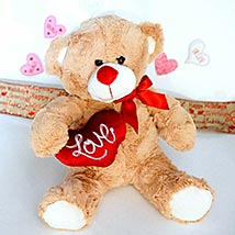 Love Message Brown Teddy: Send Soft toys to USA