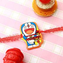 Lovely Doraemon Rakhi: Rakhi for Kids to USA