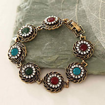 Multicolor Antique Bracelet: Send Gifts to Philadelphia