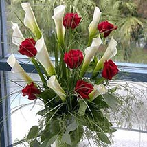 Red Elegance: Valentines Day Flowers to USA