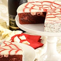 Red Velvet Brownie Cake: Send New Year Gifts to USA