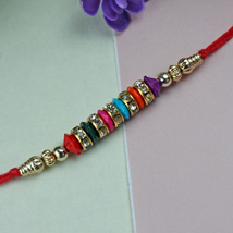Simple Beaded Rakhi: Send Rakhi to Detroit