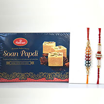 Soan Papdi N 2 Rakhis: Send Rakhi to Columbus