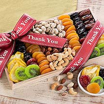 Thank You - Dried Fruit and Nut Collection: Valentine Gift Hampers to USA