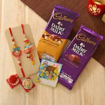 Unforgettable Rakhi Family hamper: Send Rakhi to Detroit